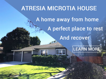 Recovery housing for Atresia and Microtia Repair in Palo Alto CA